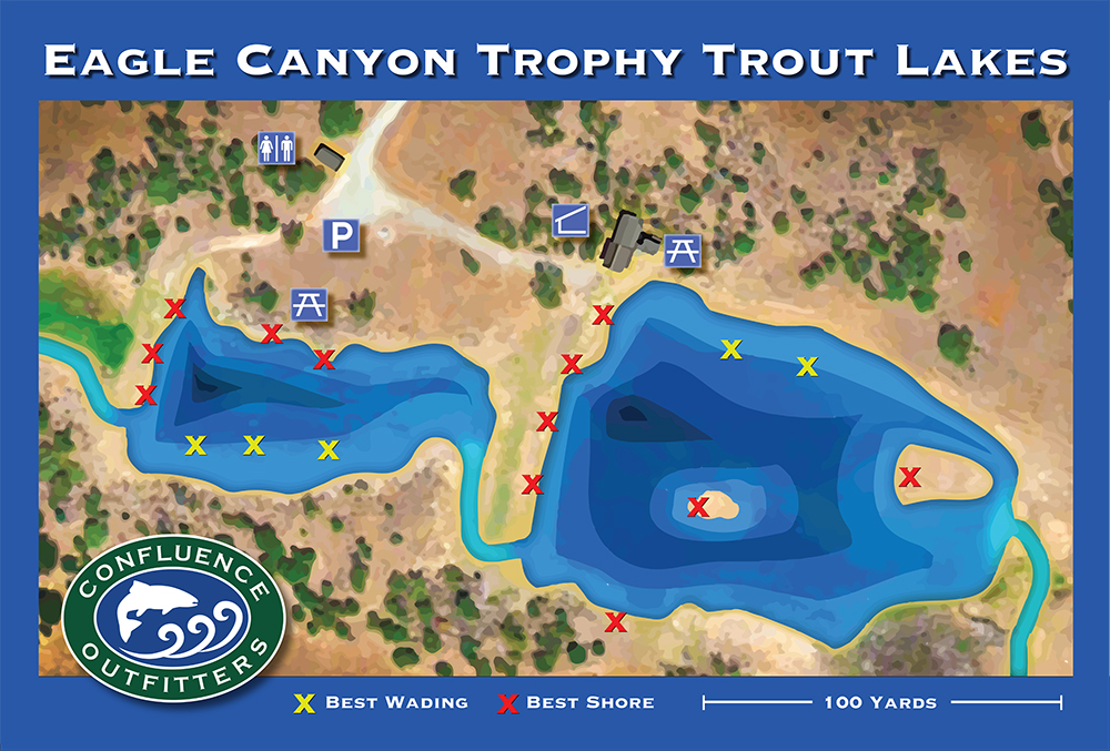 Map of Eagle Canyon Trophy Trout Lakes